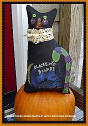 BLACKBIRDS BEWARE PAINTED CAT